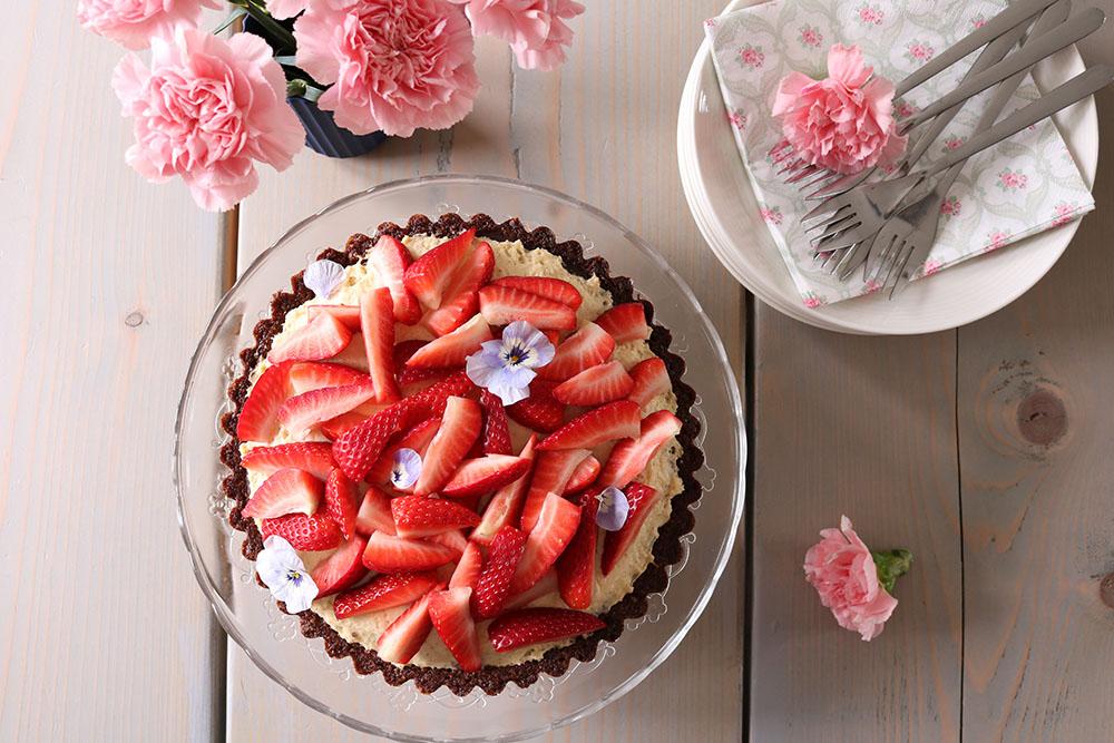 hjemmelavet jordbærtærte