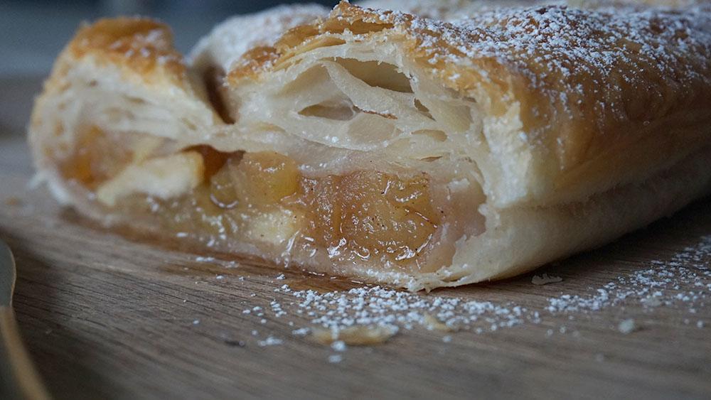 Lækker opskrift på nem apple strudel