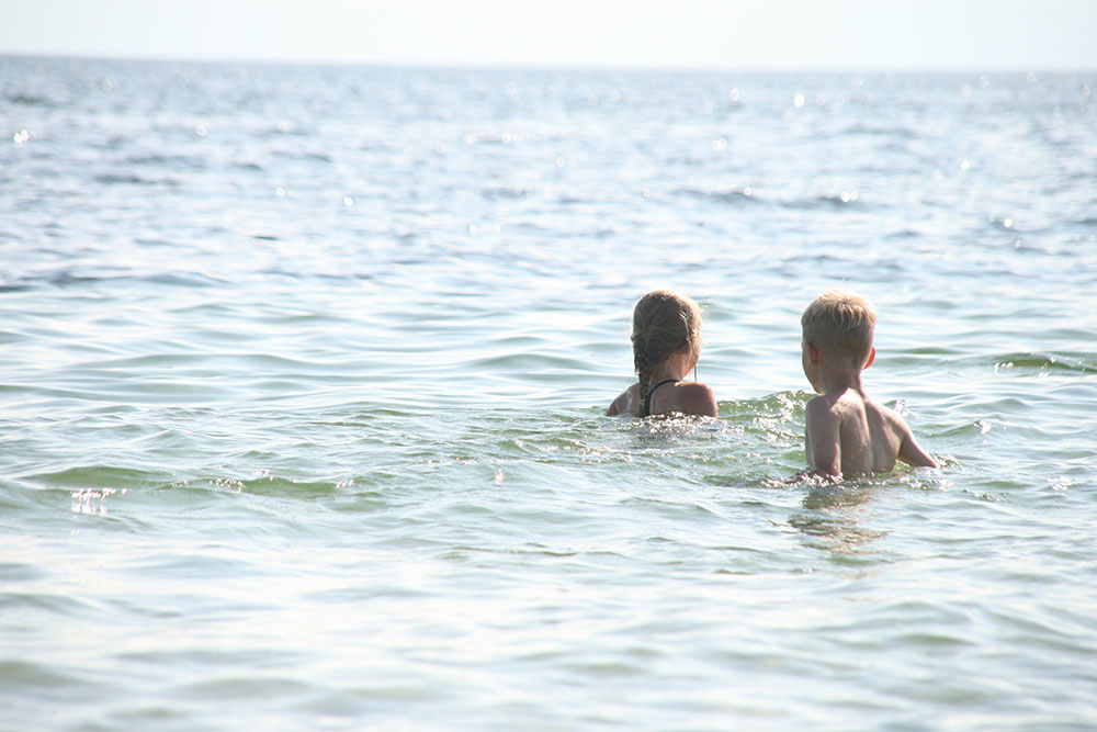 ferie og badning på Enø strand