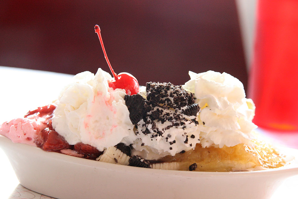 Bananasplit at 11th street Diner Miami