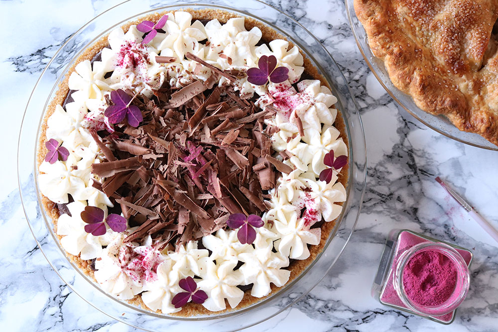 Opskrift på nok den bedste chocolate silk pie - Chokoladetærte