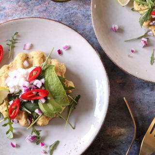 Dagens frokost – Opskrift på nok verdens bedste falafel-vafler