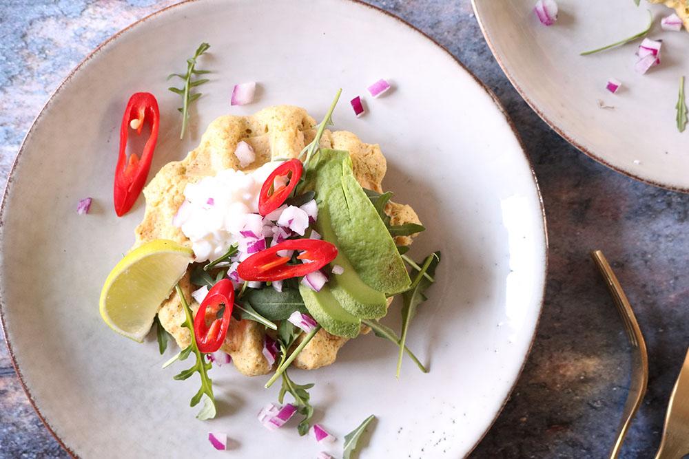 Opskrift på nok verdens bedste falafel-vafler