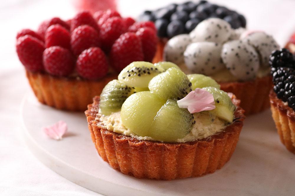 Skønne små frugttærter til dessert