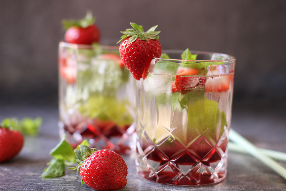 opskrift på strawberry mojito