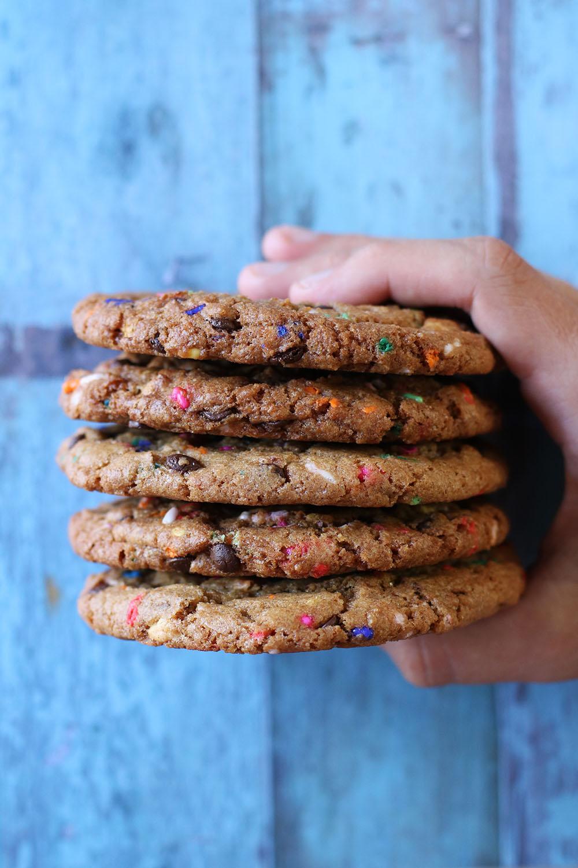 Opskrift på lækre funfetti cookies