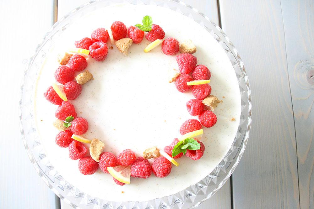 Lækker sommer dessert, koldskål kage.