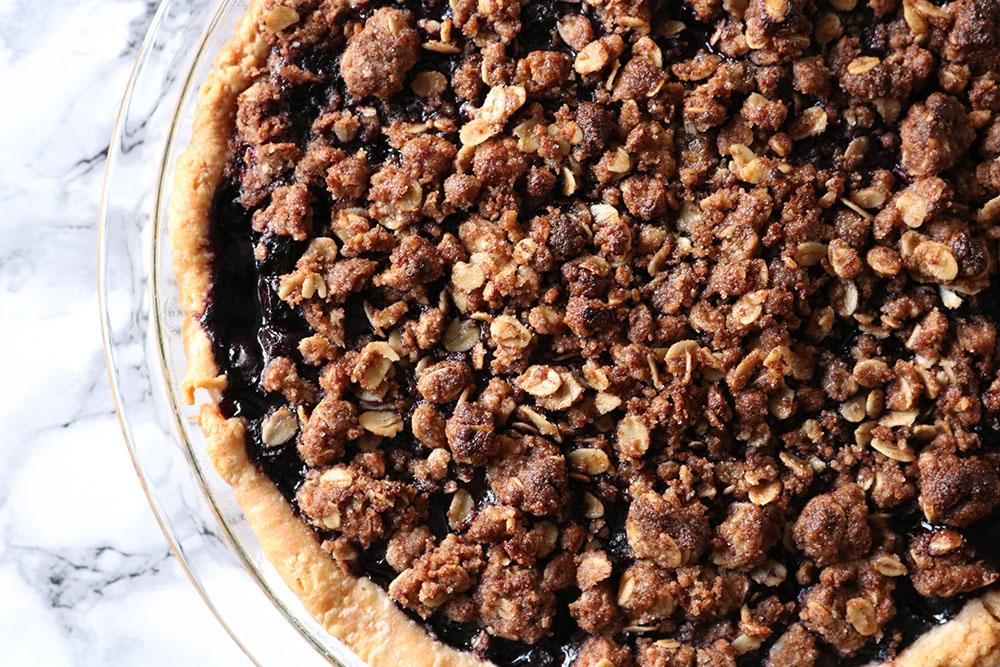 Opskrift på nok den bedste blåbærtærte