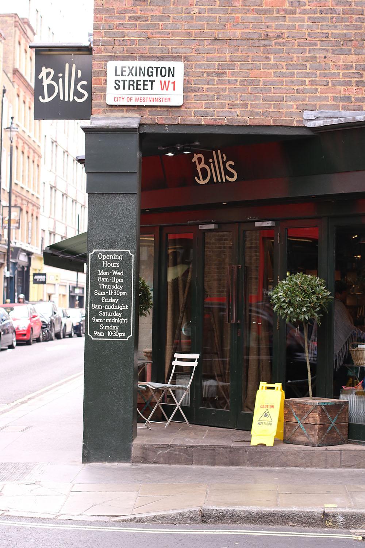 Brunch på Bill's i London