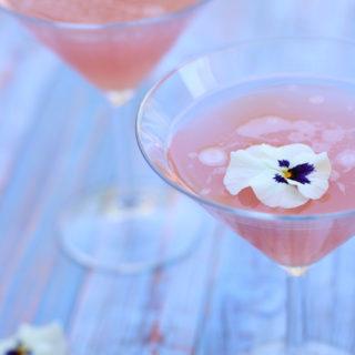 Fredagscocktail – Rabarber og hyldeblomst martini