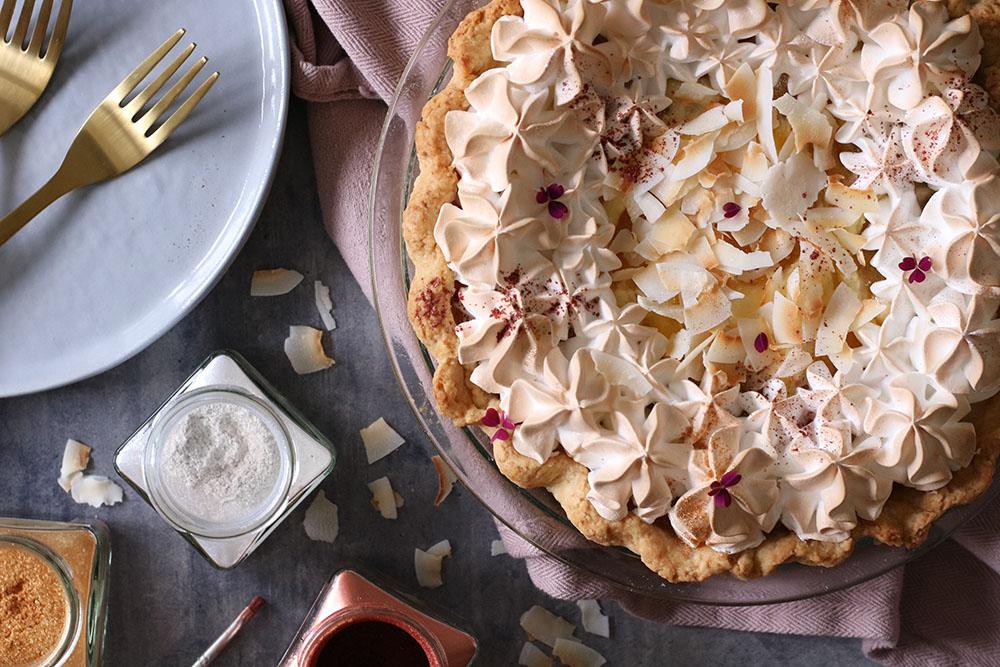Sommersød ananas og cream cheese tærte - pineapple pie