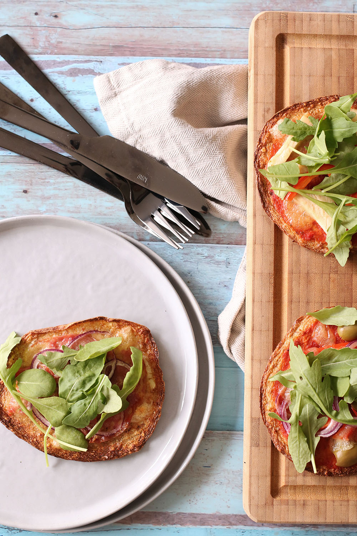 blomkålspizza på den sunde måde