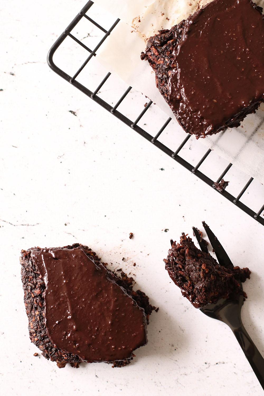sund, 100% vegansk og glutenfri fudgy brownie