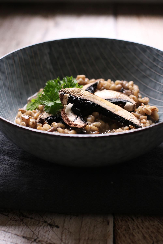 Syndig opskrift på portobello risotto