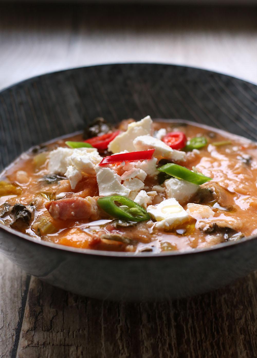 Lækker opskrift på italiensk suppe, ribollita.