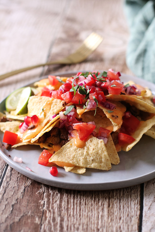 Opskrift på nachos med vegansk cheddar