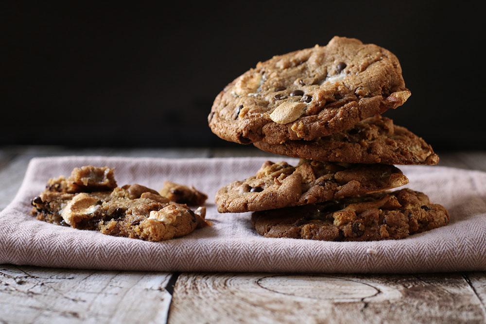 Syndig opskrift på S'mores cookies