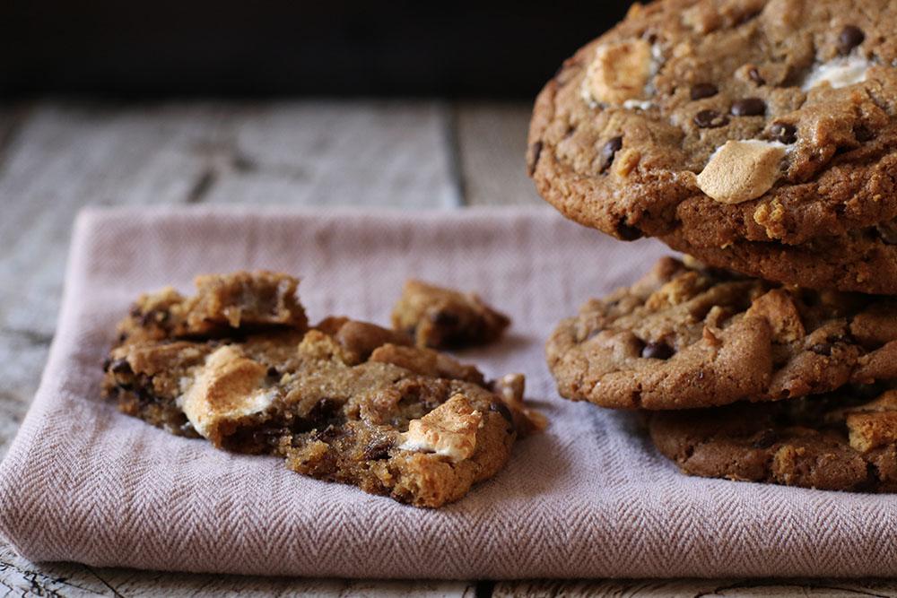 S'mores cookies opskrift
